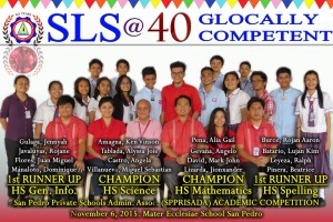 2015 SPPRISAA High School Academic Competition